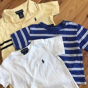 Ralph Lauren SET OF 3 stripes 6-12 months